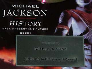 Jackson Thriller Gold Platinum Record Award Display non