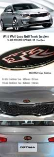 Wild Wolf Grill Trunk Emblem 2ea set Fit KIA 2011 Optima K5