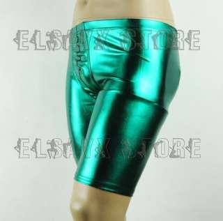 XY Men Sexy Metalic Shorts Underwear Boxer Half Pants