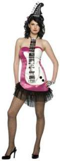 Glam Rock Pink Guitar Adult Womens Halloween Costume