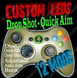 HALO MW3 12 Mode RAPID FIRE Modded Xbox 360 Controller Drop Shot COD