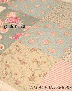 ROUSSILLON FRENCH COUNTRY ROSE QUEEN / KING QUILT SET