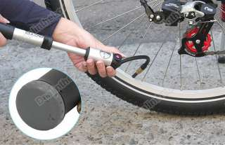New Mini Portable 300PSI Bike Bicycle High Pressure Pump +2 Cyclinders