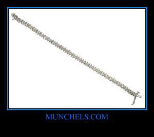 LADIES 14K WHITE GOLD DIAMOND TENNIS BRACELET