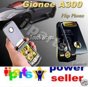 A300 2.0Mp Touch Bluetooth Gold Flip Phone Ferrari /K