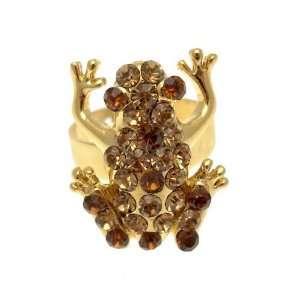 Acosta Jewellery   Topaz Crystal   Frog Fashion Ring