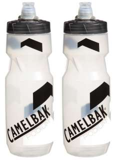 2x CAMELBAK LARGE PODIUM CLEAR/CARBON CYCLING WATER BOTTLES BIDONS