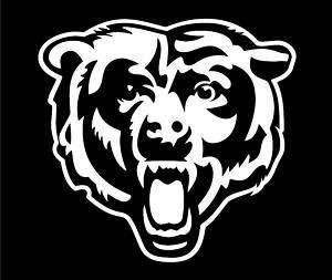 Chicago Bears Vinyl Car Window Sticker / Decal (White)