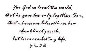 John 316 bible verse Christian UM rubber stamp #16
