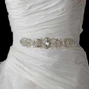Vintage Rhinestone Crystal Wedding Sash Bridal Belt