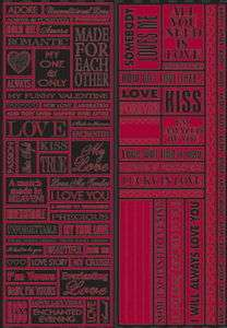 Reminisce Valentines Love Quotes Foil Scrapbooking Stickers 10414