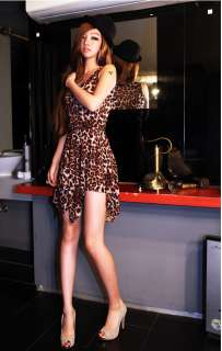 Japan new style ladies fashion leopard sexy vest dress / skirt