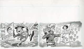 JACK DAVIS   MAD #230 ROCK FAN LINDA RONSTADT ORIG ART