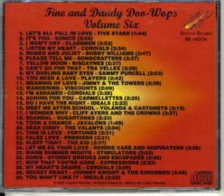 Fine and Dandy Doo Wops CD   Vol 6 NEW/SEALED 30 Tracks