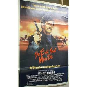 THE EVIL THAT MEN DO ORIGINAL MOVIE POSTER CHARLES BRONSON