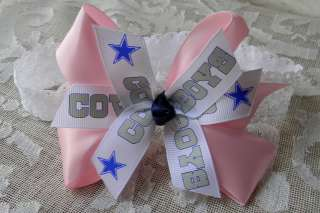 Baby Girls Pink DALLAS COWBOYS HAIR BOW headband