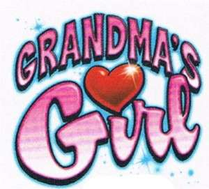GRANDMAS GIRL Love Cute Girls Kids Baby Teen Funny Tee