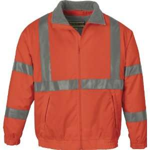 ASH CITY MENS INSULATED ORANGE SAFETY JACKET X SMALL