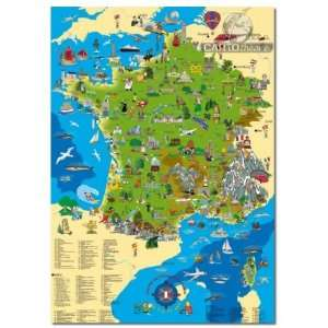 carte de france illustree 100x 70 cm (9783981413441): Collectif: Books