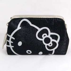 Hello Kitty Hand Bag Tote Makeup Case Pouch Silver Beauty