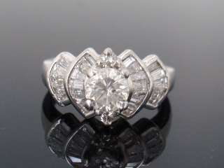 ct carat G H VS SI Cert Round Diamond 14kt White Gold Engagement Ring