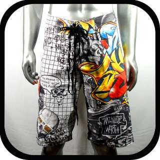Minute Mirth Shorts Swim Board K3 Sz 32 34 36 Graffiti bmx Skate