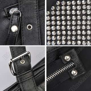 Punk Cool Fashion Faux PU Leather Unique Nail Bag Rivet Bag Handbag