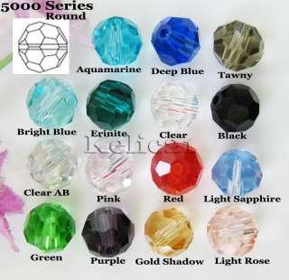 40p Multi color Swarovski Crystal 5000 8mm Round Beads