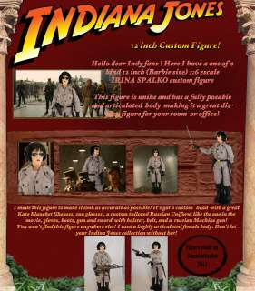 Hot toys Indiana jones custom figure Irina Spalko Kate Blanchett