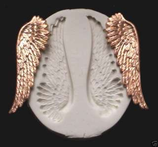 ANGEL FAIRY GODDESS FEATHER WINGS CNS polymer clay mold