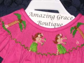 VIVE La FETE SMOCKED Girls AW Bishop HULA DANCERS 4 5 6 6X Angel Wing