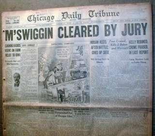 BEST 1926 Chicago newspaper Lrg AL CAPONE Gangster era HEADLINE Very