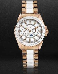 NEW GUESS COLLECTION GC GOLD LADY WATCH 53000M1 WHITE
