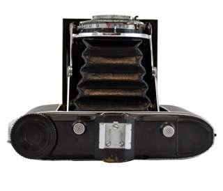 Vintage Agfa Isolette V Folding Film Camera Germany Leather Case