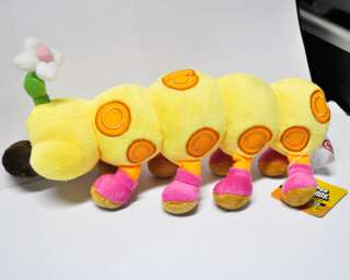 new super mario bros wiggler 11 soft plush toy doll