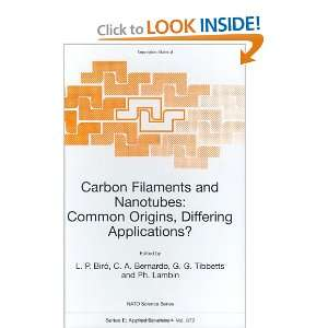 Carbon Filaments and Nanotubes: Common Origins, Differing