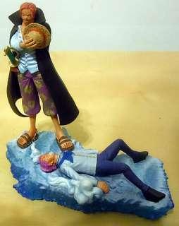 One Piece Log Box Marineford Red Hair Pirate Shanks Figure Luffy NEW