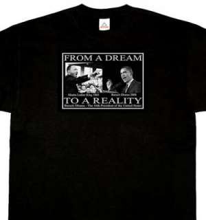 Barack Obama / Dr. King Black T Shirt