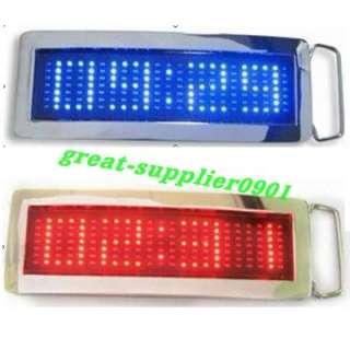 Fashion 7x23 Dot matrix LED text scroll sign display Belt Buckle