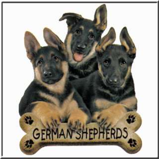 German Shepherd Dog Puppies w/Bone T Shirt Kids 2T 14