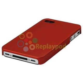 Red Hard Case+White Hole Rear Skin Cover for Apple iPhone 4 4G 4GS 4S