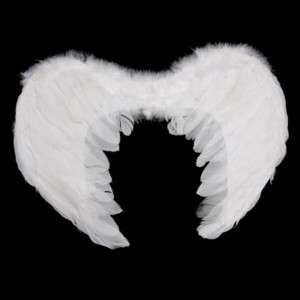 White Feather Wings Angel Baby Fairy Costume Props L