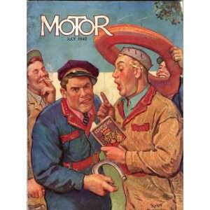Motor Magazine July 1940 James Dalton, Cover Robert Robinson Books