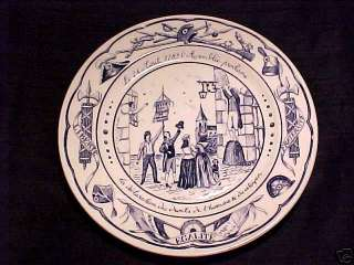 LUNEVILLE FRENCH FAIENCE MAJOLICA REVOLUTIONARY PLATE