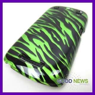 Mobile Blackberry Curve 9360 9370 9350 Green Black Zebra Hard Case
