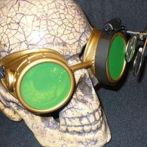 Steampunk Goggles Glasses cyber lens GLg goth punk Biker Motorcycle