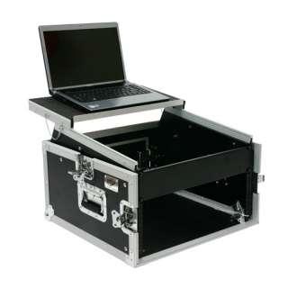 OSP Pro DJ 6 Space Rack Mixer Rack Case with Laptop Shelf