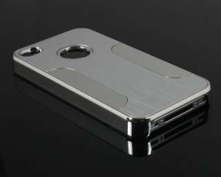 Luxury Steel Aluminum Chrome Hard Back Case Cover For Apple iPhone 4S