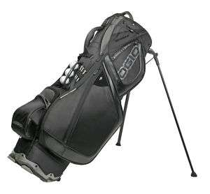 New 2010 OGIO Grom Stealth Black Stand Carry Golf Bag