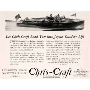 1929 Ad Chris Craft Cruisers Runabout Boats Algonac